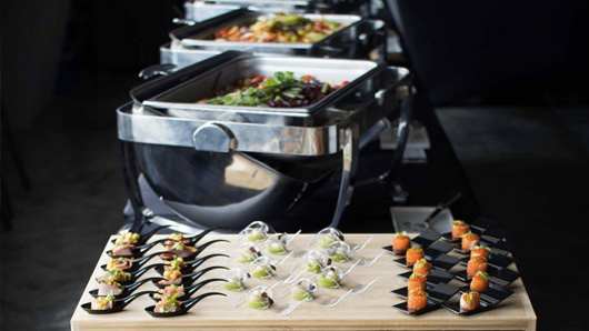 Healthy corporate buffet
