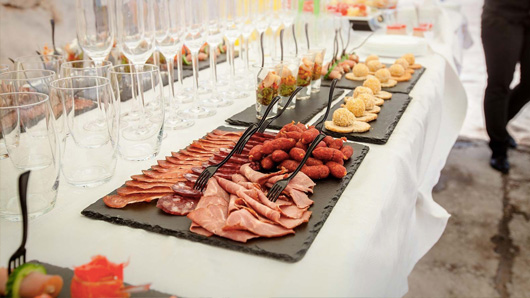 Canapes and cocktails