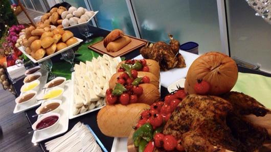 Casual festive buffet