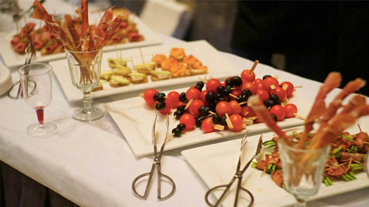 Casual finger food buffet