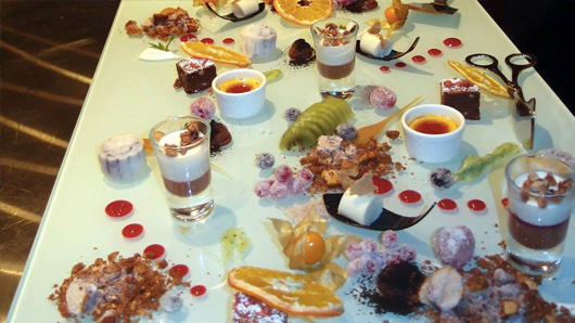 Food art dessert table